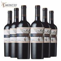 京东PLUS会员:montes 蒙特斯 佳美娜红葡萄酒 750ml*6瓶