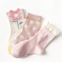 CARAMELLA 儿童纯棉中筒袜 3双装 *2件
