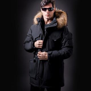 龙牙新款战熊战术机动PARKA羽绒服男士冬季加厚鹅绒收腰严寒外套