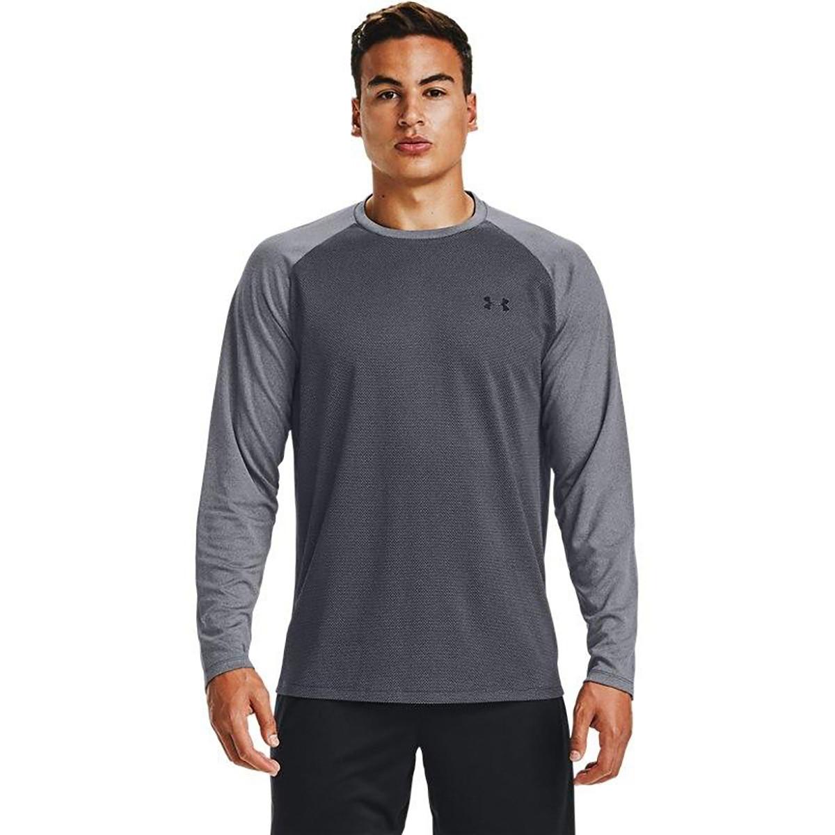 安德玛UA Textured 男子长袖保暖训练运动上衣
