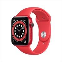 百亿补贴:Apple 苹果 Watch Series 6 智能手表 GPS款 44mm 红色运动表带