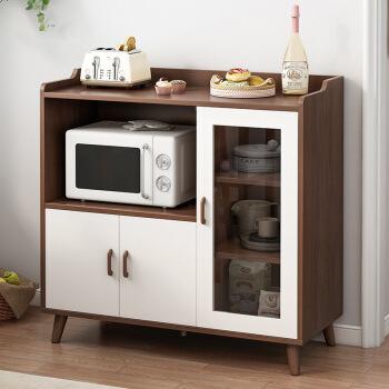 doruik餐边柜现代简约家用厨房碗柜客厅靠墙储物柜子置物收纳多功能
