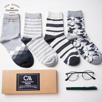 Caramella 焦糖玛奇朵 53964 男士袜子 4双装