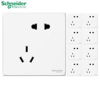 12.12预售:Schneider 施耐德 皓呈 白色错位五孔插座 10只装