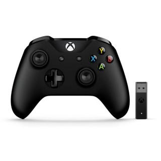 微软 Xbox无线控制器/手柄 黑色+二代Win10无线适配器 | PC游戏手柄 蓝牙无线双模 适配Xbox/电脑/平板/手机