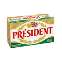 优惠升级、京东PLUS会员:President 总统 发酵型动物咸味黄油块 200g *7件