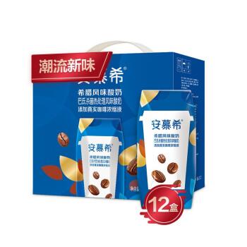 京东PLUS会员、限地区 : 伊利 安慕希 常温希腊风味酸牛奶 咖啡口味 205g*12盒/箱 *3件 +凑单品