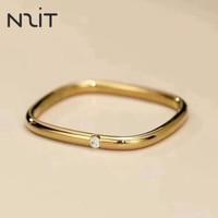 N2it MAJ00039 方形素圈光面戒指