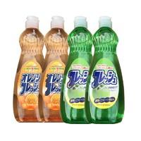 火箭石碱 洗洁精 600ml 香橙香 *2+青苹果香*2