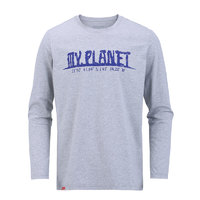 KROCEUS 地球科学家  2552552 男女款印花长袖T恤
