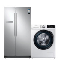 SAMSUNG 三星 冰洗套装 RS55N3003SA/SC变频对开门冰箱 545L+WW1WN64FTBW/SC滚筒洗衣机 10kg