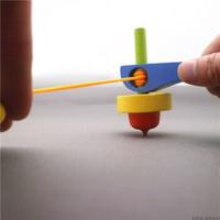 移动专享:乐加酷 木制手柄拉线陀螺