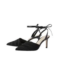CHARLES&KEITH CK1-60920189-BLACK 女士褶皱尖头高跟凉鞋
