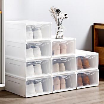 美麗雅  鞋盒收納柜 透明抽屜式 加厚整理箱 防潮防塵儲物箱組合