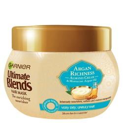 Garnier Ultimate 多元养护摩洛哥坚果油与杏仁乳发膜 300ml  *13件