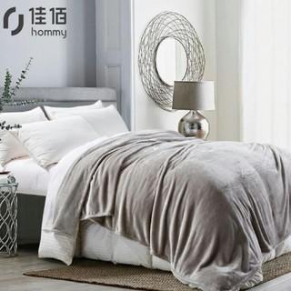 京东PLUS会员 : 佳佰 双层羊毛毯 灰印花 200*230cm