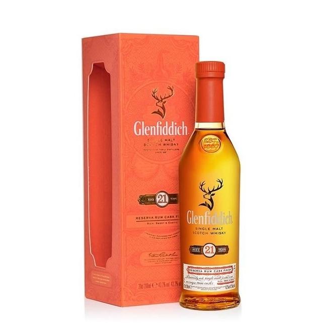 cdf会员购! Glenfiddich 格兰菲迪 21年单一麦芽苏格兰威士忌 200ml  *4件