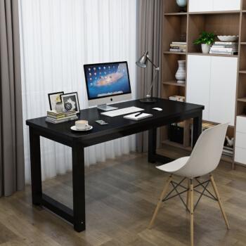 0719 圆角电脑桌 黑色面黑架 100*60*74cm