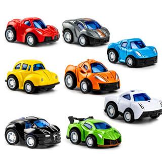 实丰 玩具车合金回力儿童宝宝玩具汽车模型回力车套装早教玩具巴士男孩玩具套装迷你合金小跑车