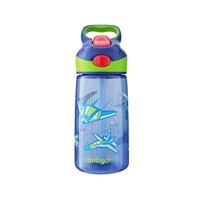Contigo康迪克水杯儿童吸管杯幼儿园水杯便携宝宝防摔水壶