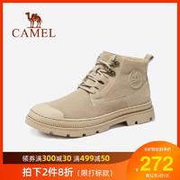 骆驼男鞋202秋季敦煌联名复古情侣工装潮靴国潮时尚保暖绒舒适靴