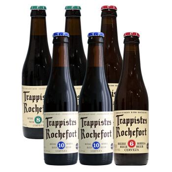 Trappistes Rochefort 罗斯福 10号/8号/6号啤酒 修道院精酿啤酒 330ml*6瓶 *4件