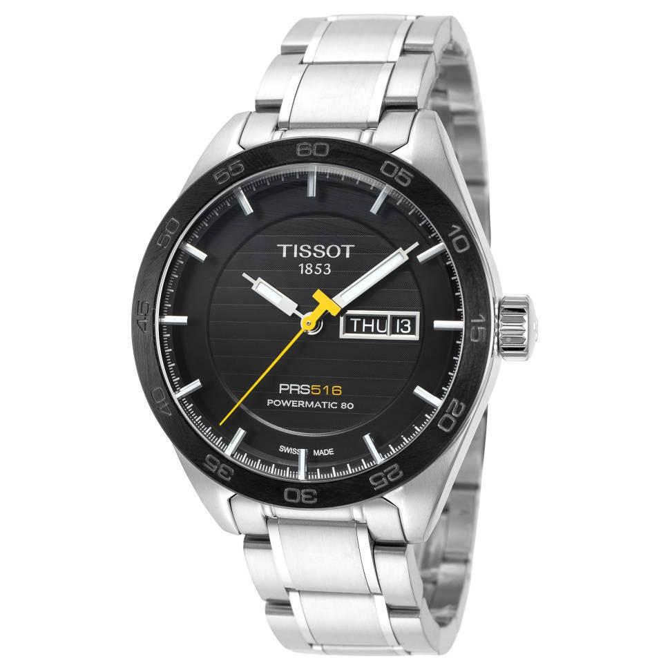 银联返现购 : TISSOT 天梭 PRS 516 T100.43.01.105.100 男士机械腕表
