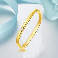 Slaso 手拉手 AU750 女款素圈戒指