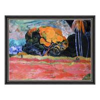 风景油画《山脚》高更 沙发背景墙装饰画 爵士黑 101×77cm