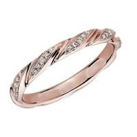 真心好礼:Blue Nile 玫瑰金 涡状钻石对戒指