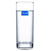 ocean进口玻璃杯家用套装直筒透明喝水杯高身杯茶杯客厅杯子6只装