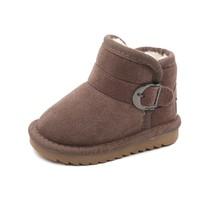 Babaya 芭芭鸭 儿童加绒保暖雪地靴