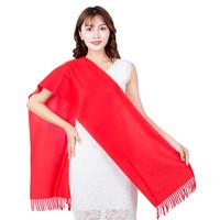 飞辰 双面绒红围巾 180*30cm