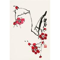 荣宝斋装饰画新中式国画 客厅装饰壁画 画片齐白石 梅花