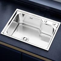 箭牌水槽单槽洗菜盆台上台下盆带水龙头洗碗池淘菜盆水官方精选