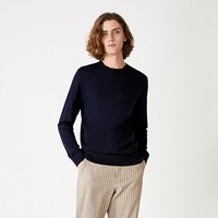 SELECTED思莱德 100%纯羊毛圆领休闲针织衫