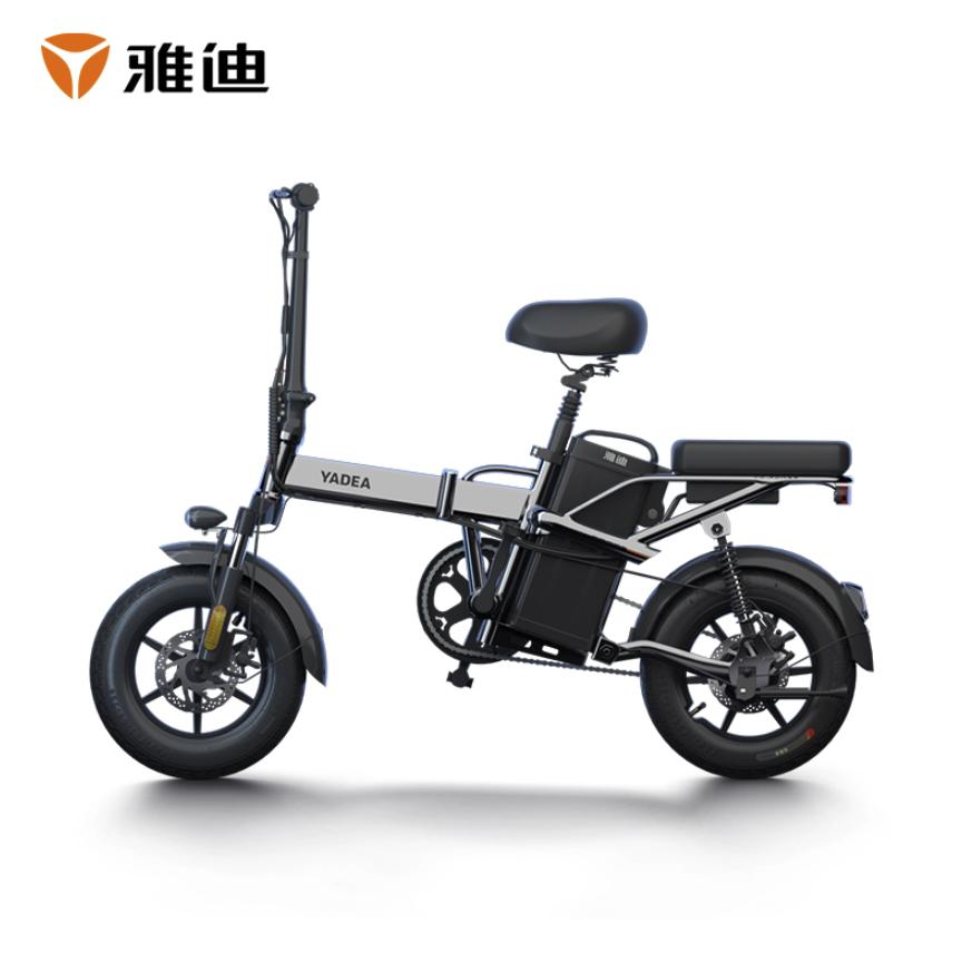 Yadea 雅迪 F4 折叠电动车 男女通用款 黑色48V8Ah 锂电池 支持脚踏