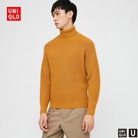 UNIQLO 优衣库 432921 男装罗纹两翻领针织衫