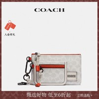 COACH/蔻驰男士经典标志COACH贴饰双袋腰包