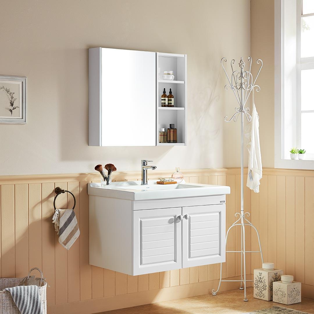 12.12预售 : HUIDA 惠达 HDGM794 简约美式浴室柜组合套装 80cm