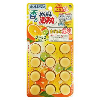 KOBAYASHI 小林制药 管道疏通清洁丸 柑橘香 12枚  *6件