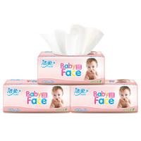 洁柔 抽纸 BabyFace系列 三层100抽*24包 中规格 面巾纸 婴儿用纸 整箱 *5件