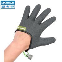 迪卡儂釣魚手套防滑防割海釣手套磯釣手套路亞防水手套 CAP(M、深灰色左手)