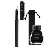 Schneider 施耐德 BK406 钢笔+吸墨器+墨水+绒布笔袋