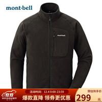 Montbell 户外上衣冲锋衣内胆男加厚开衫抓绒衣外套 1114432 BK黑色 XL/180