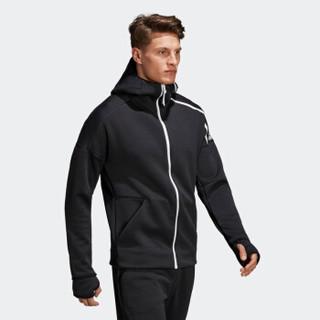 历史低价 : adidas 阿迪达斯 运动型格 DM5543 男士针织夹克