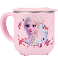 Disney 迪士尼 婴儿童卡通可拆卸不锈钢喝水杯 带盖 260ML