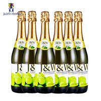 凑单品:J&W 艾加 无酒精起泡葡萄酒 6*750ml +凑单品