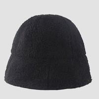 播提 毛茸茸盆帽 黑色