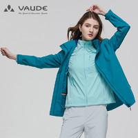 巍德(VAUDE)户外运动女款防水防风冲锋衣日常徒步登山服外套女1128136S